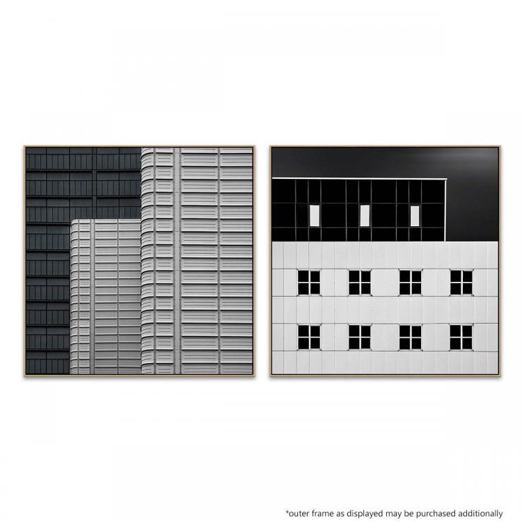 The Books Cover Wall - White vs Black -  Print