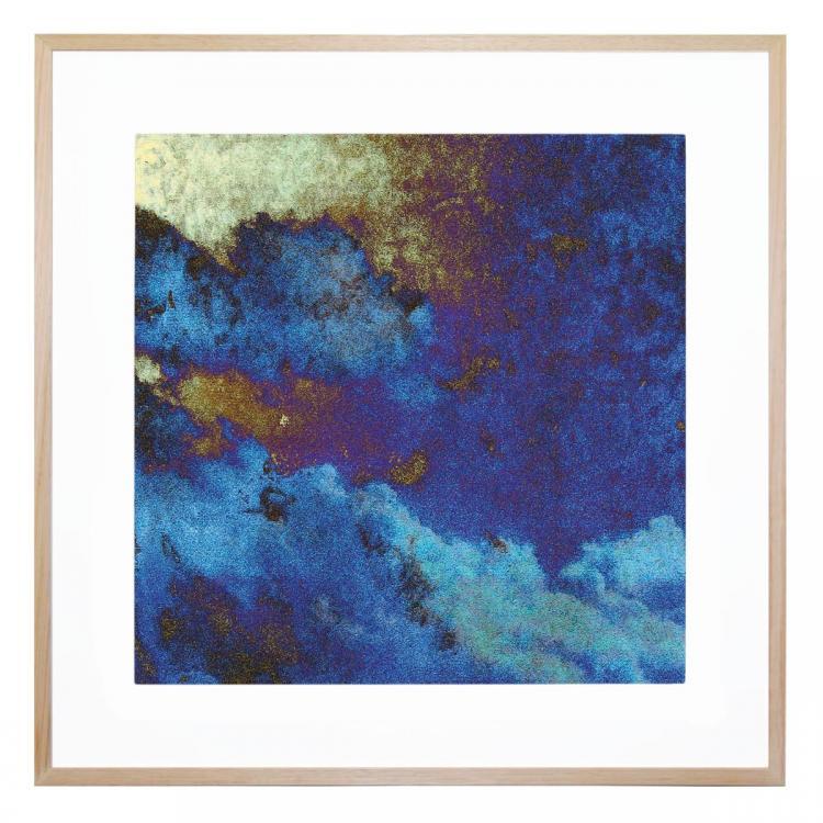 Blue Paper Clouds - Print