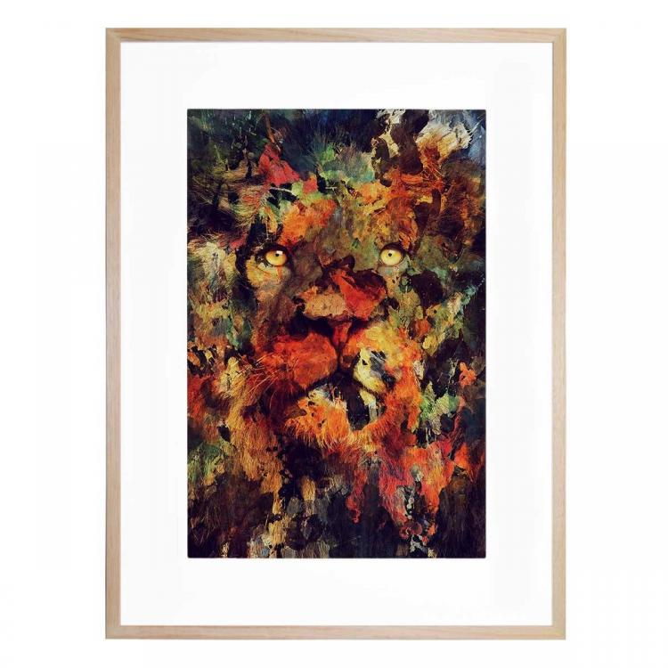 Watercolor Lion - Print