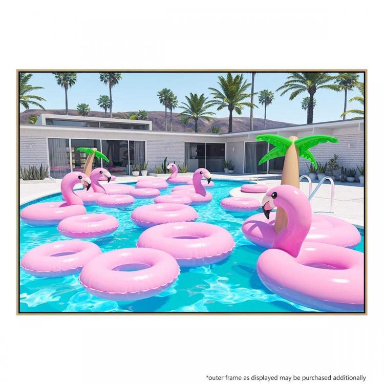 Flamingo Pool - Print