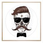 Hipster Skull - Print