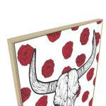 Horns And Roses - Print
