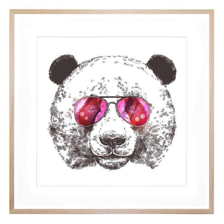 Think Pink Panda - Print