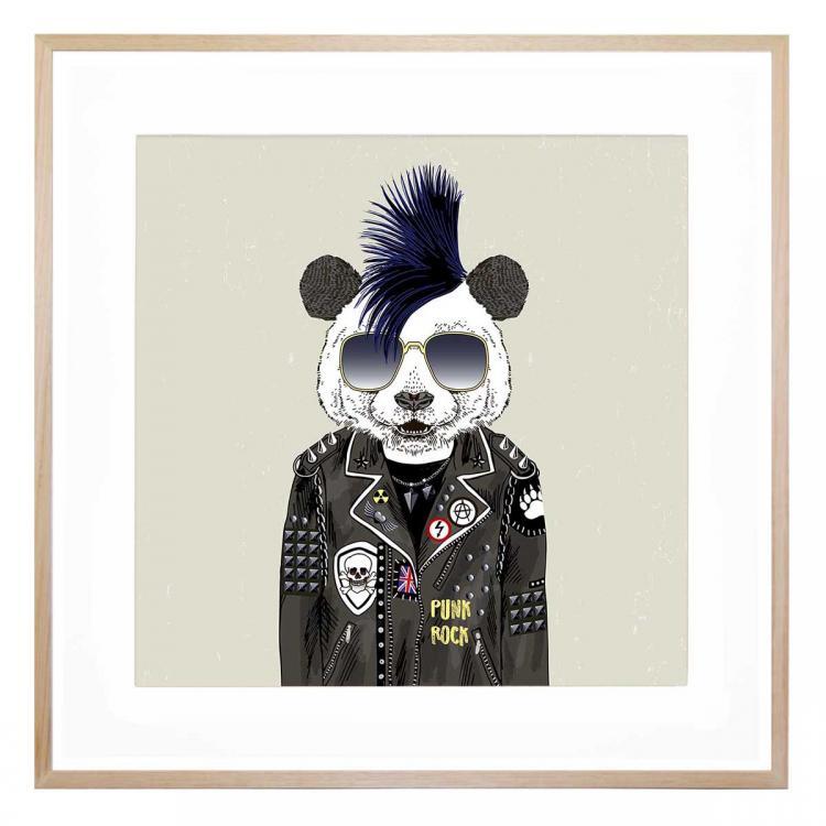 Punk Rock Panda - Print