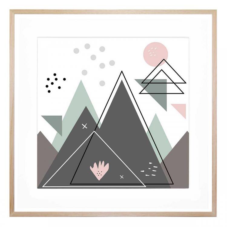 Pastel Peaks - Print