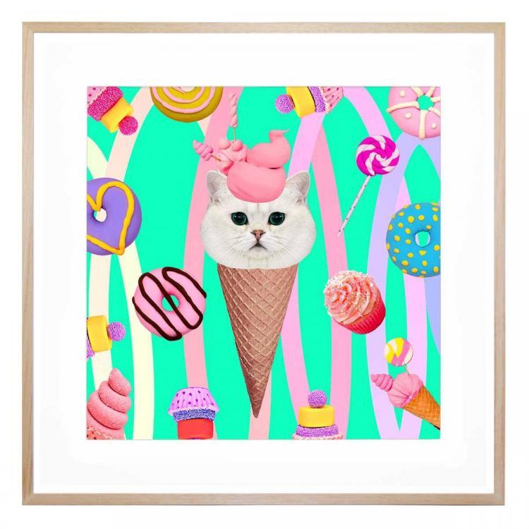 Coney Cat - Print