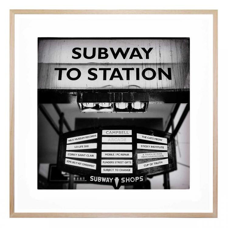 Flinders St Subway - Print