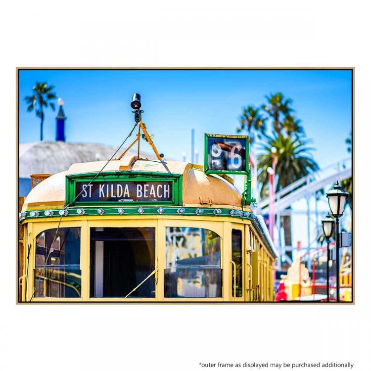 Tram To St Kilda Beach - Print