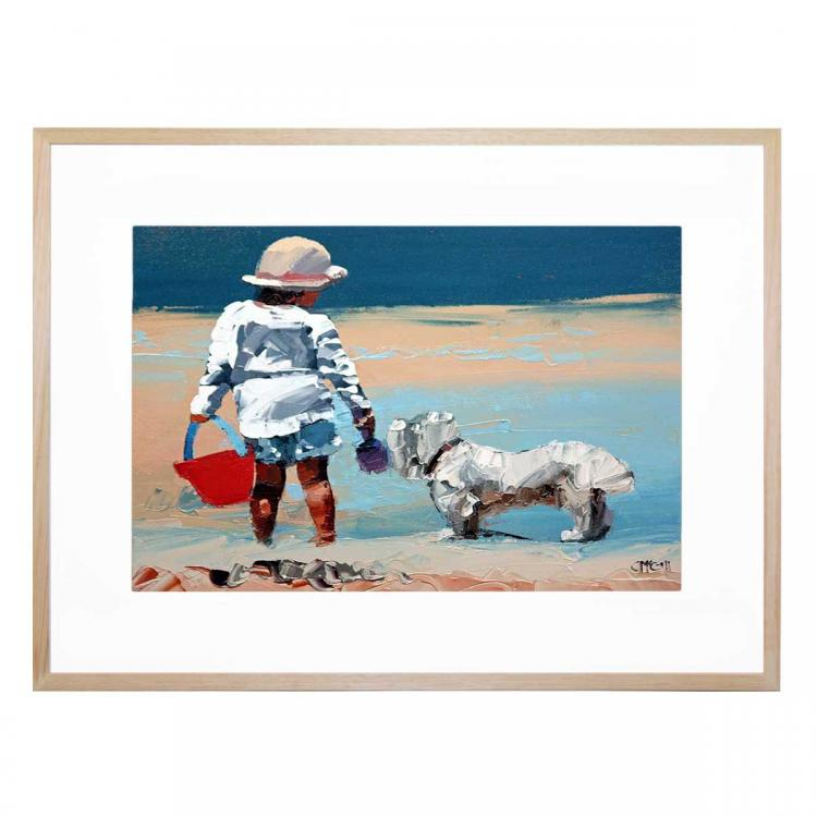 A Girl And Her Loyal Pup II - Print