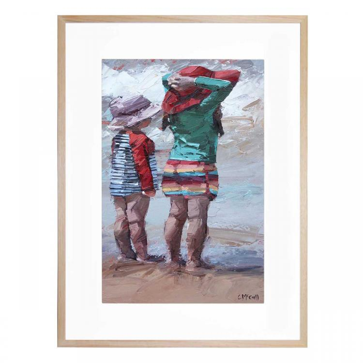 Watching The Waves - Print