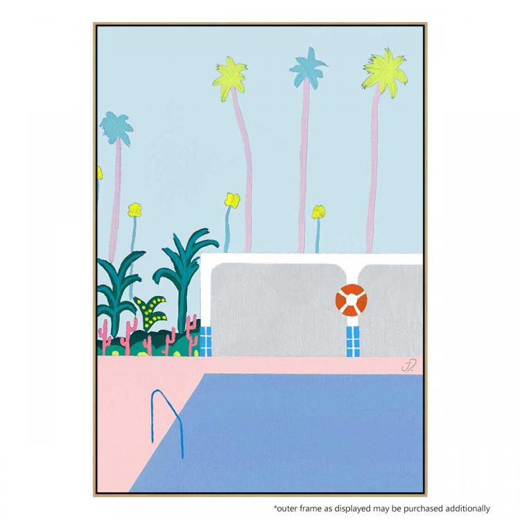 Pool House Light Blue - Print