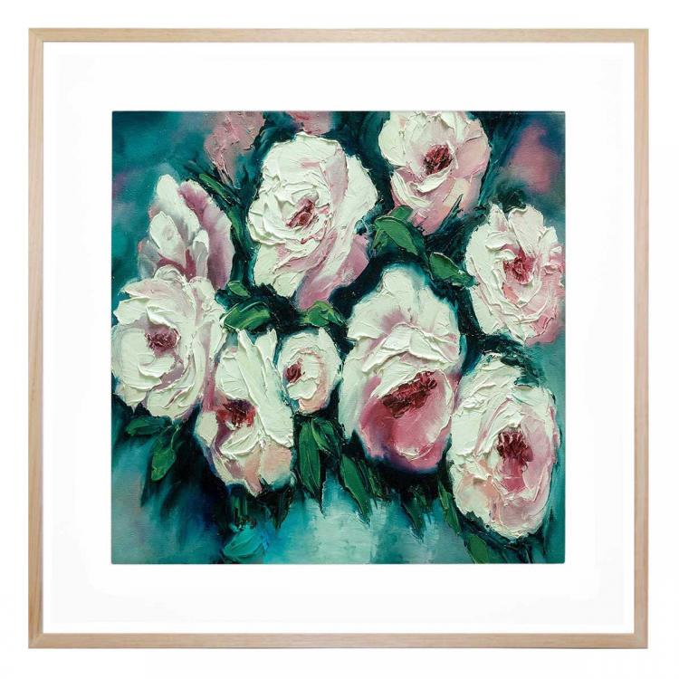Blushing Blooms At Dawn - Print
