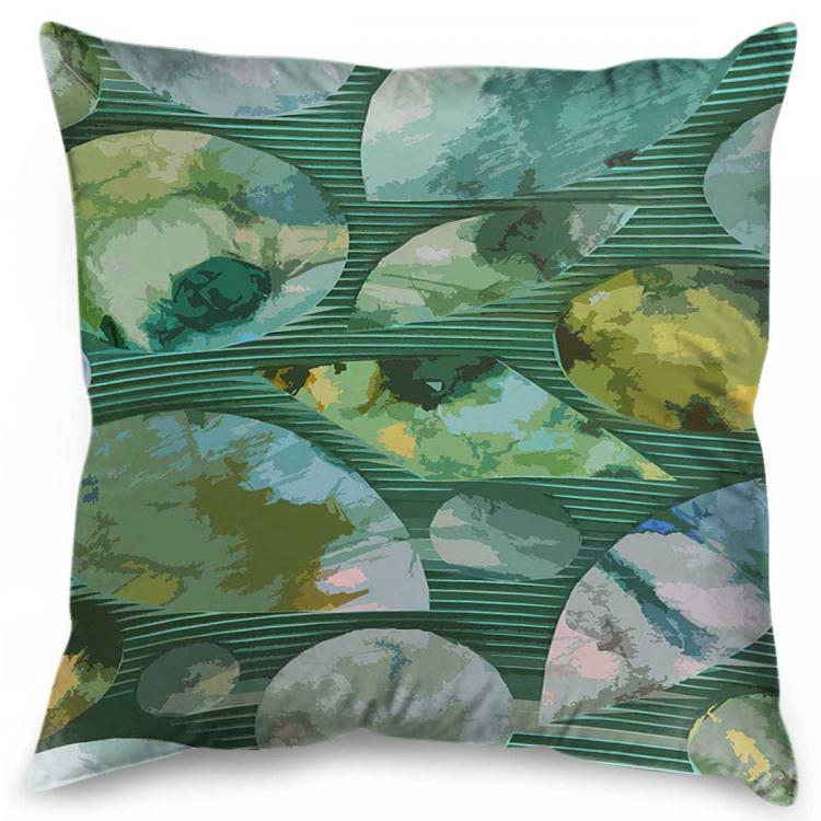 Green Blue Leaves - Print