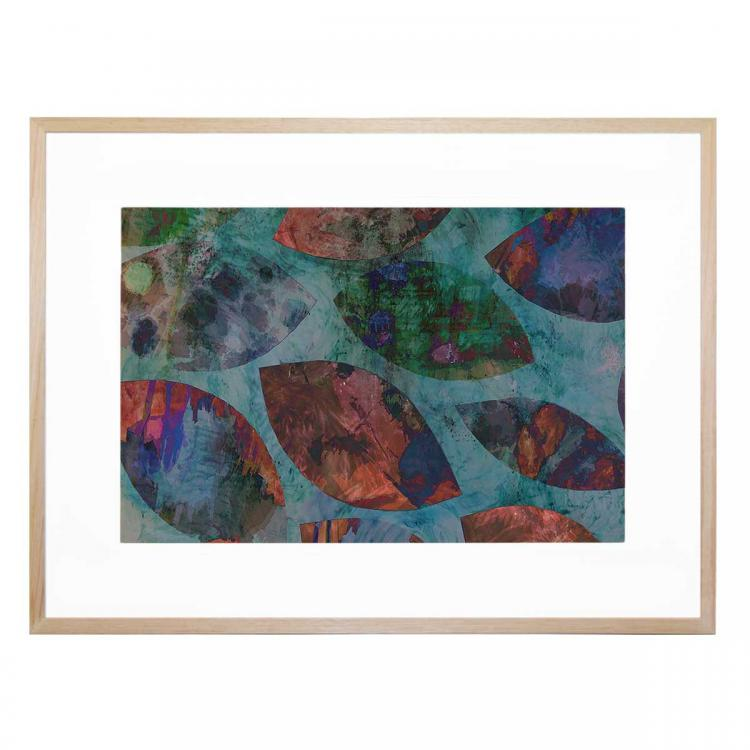 Leaves With Colors - Print