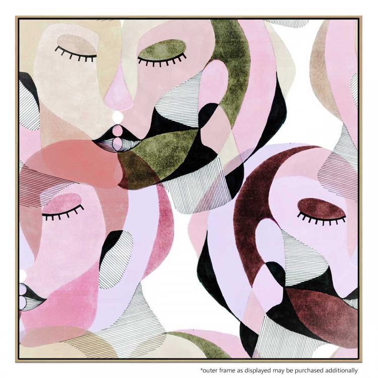 Moss And Burgundy - Print