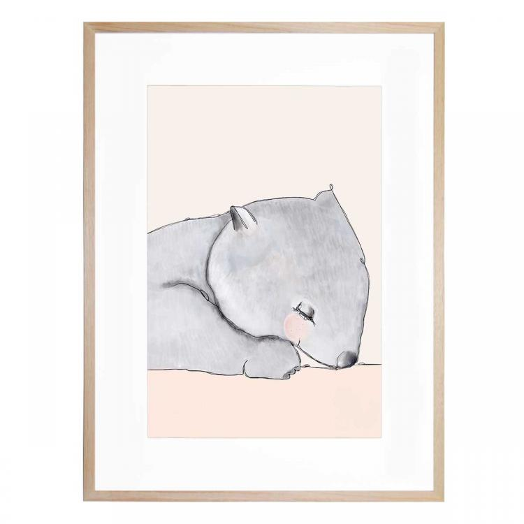 Winslow The Wombat - Print
