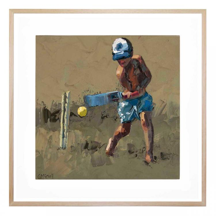 Beach Cricketer II - Print
