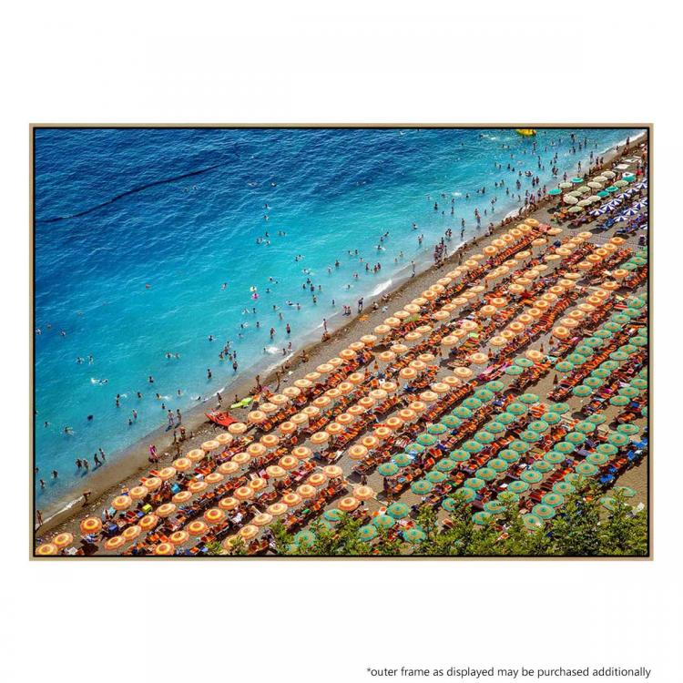 Beach Day In Positano - Print