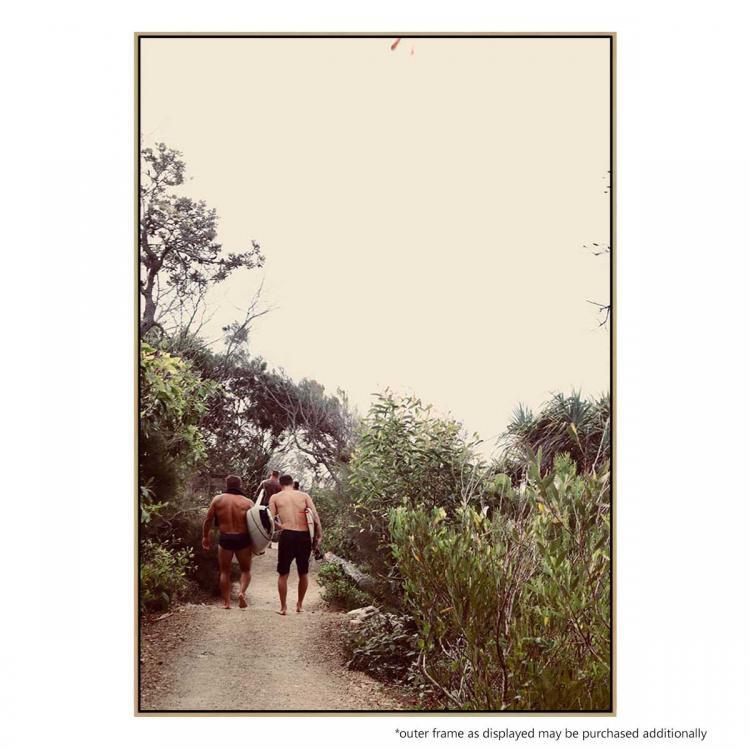 Walking Back From Granite Bay - Print