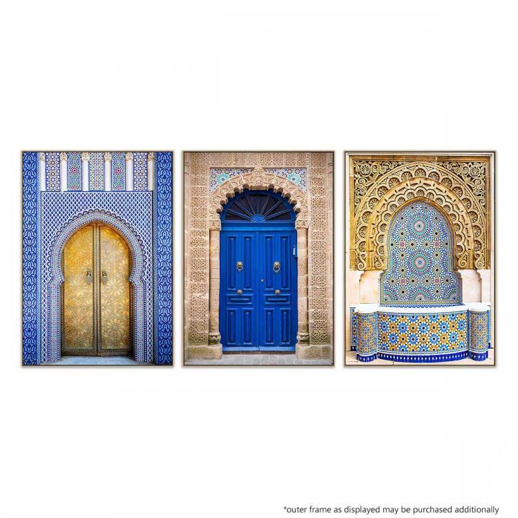 Royal Palace Doors | Essaouira Blue | Mosaic Fountain
