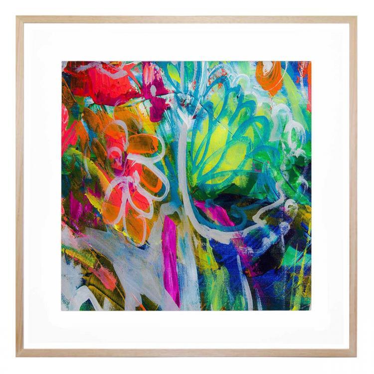 Fluro Blooms - Print