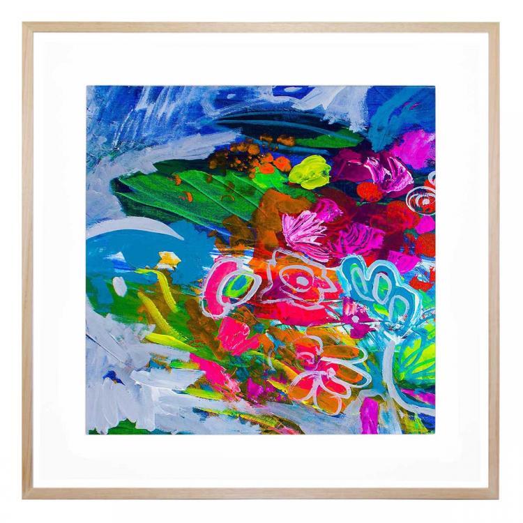 Fluro Blooms 2 - Print
