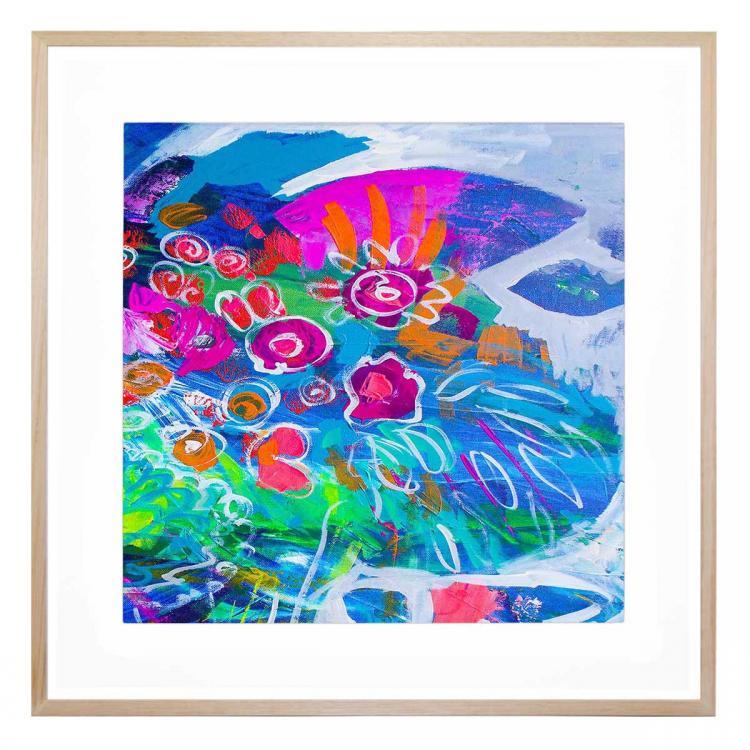 Fluro Blooms 3 - Print
