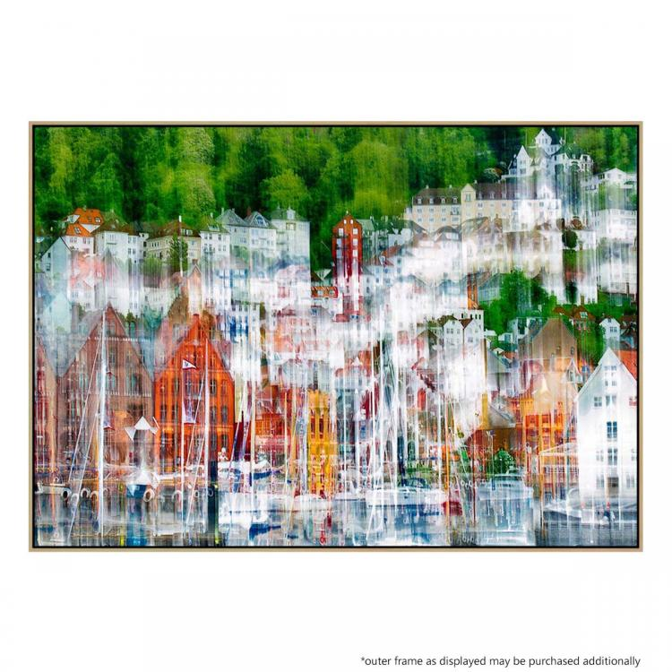 Boats In Harbour - Print