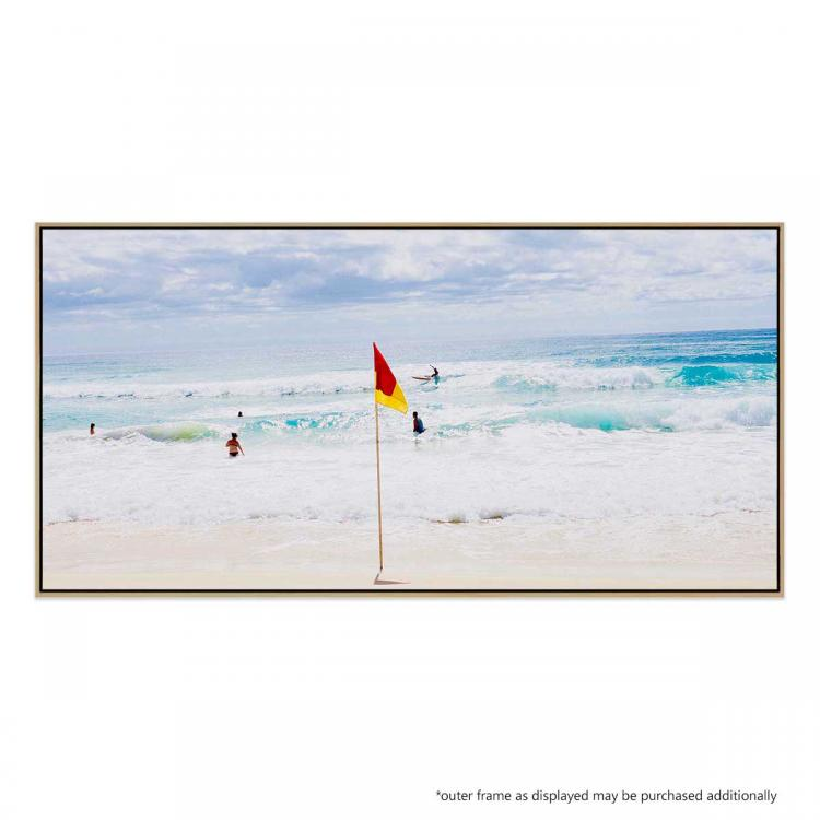 9am Surf At Main Beach - Print