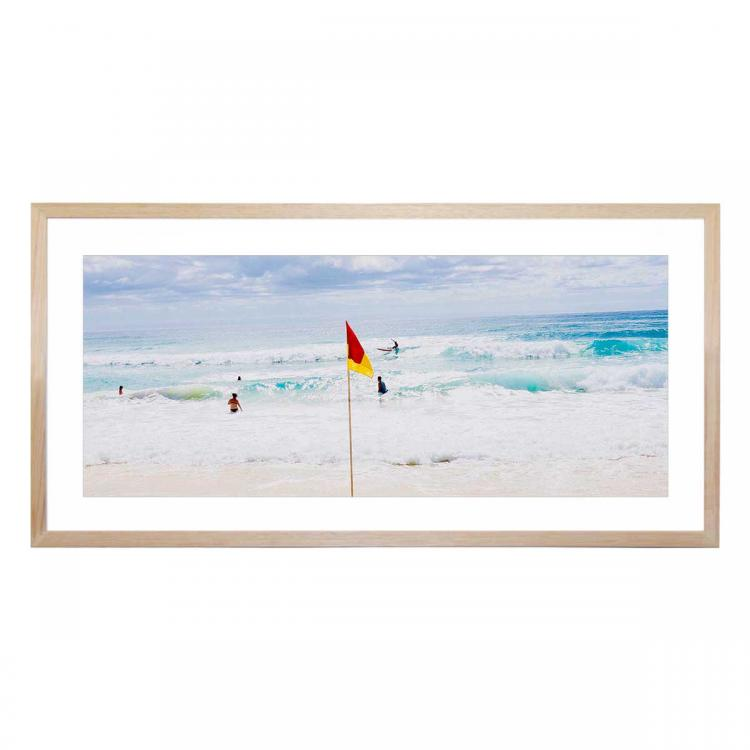 9am Surf At Main Beach - Print