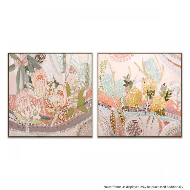 Terra And Flora 1   Terra And Flora 2 - Painting