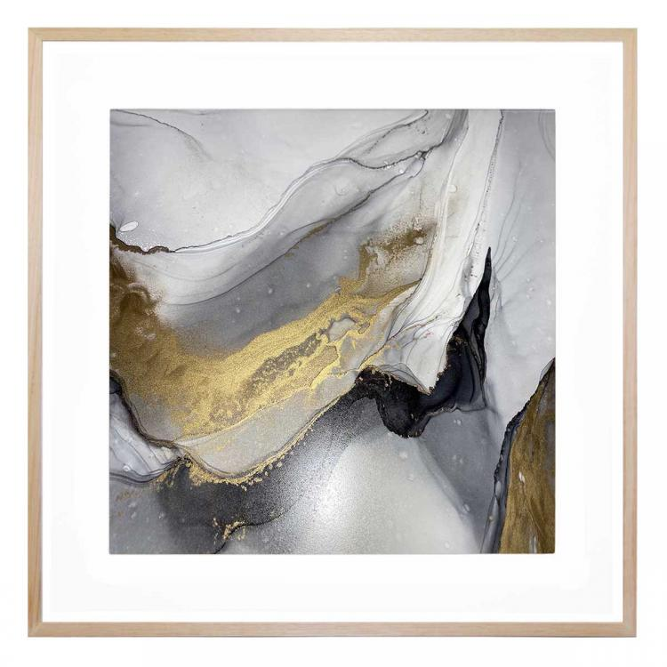Grey And The Gold 1 - Print