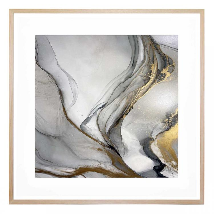 Grey And The Gold 2 - Print