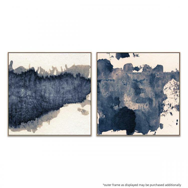 Granulated Blue - Moving Through - Print