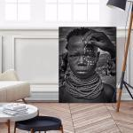 Painting The Face Of A Karo Tribe Girl - Print