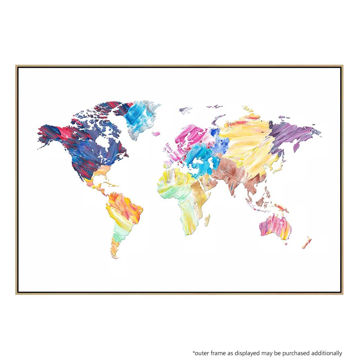 Picture of: World Map Color Buy Australian Made Wall Art United Interiors