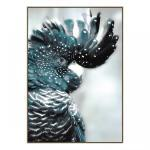 Cockatoo Teal - Canvas Print - Natural Frame - ONE ONLY