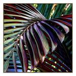 Purple Palm Leaf - Canvas Print - Natural Shadow Frame - (Cleara