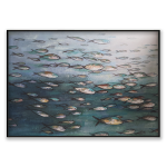 Pescatory - Painting - Black Floating Frame