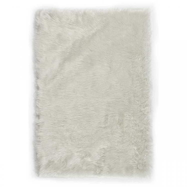 Faux Fur Rug - White
