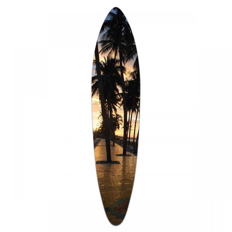 Sunset Palms - Acrylic Surfboard