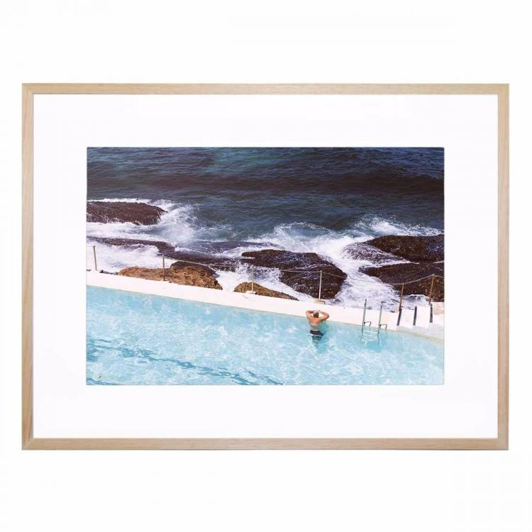 Beach View - Framed Print - Natural Frame - ONE ONLY