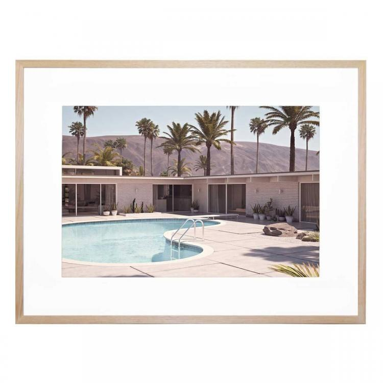 Palm Drive - Framed Print - Natural Frame - ONE ONLY