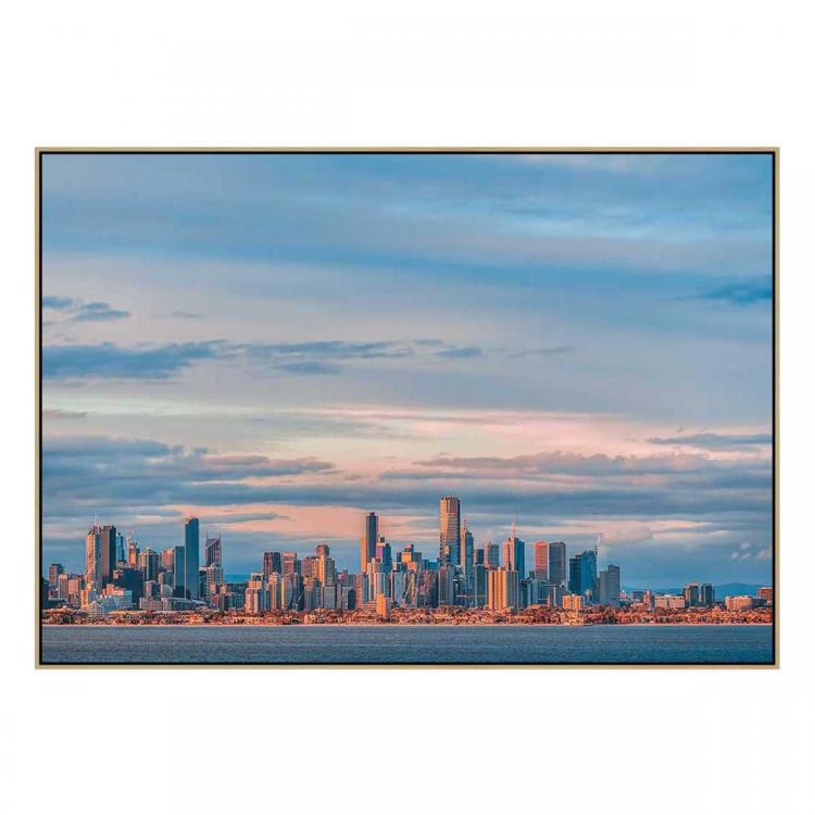 Sunset View - Canvas Print - Natural Frame - ONE ONLY