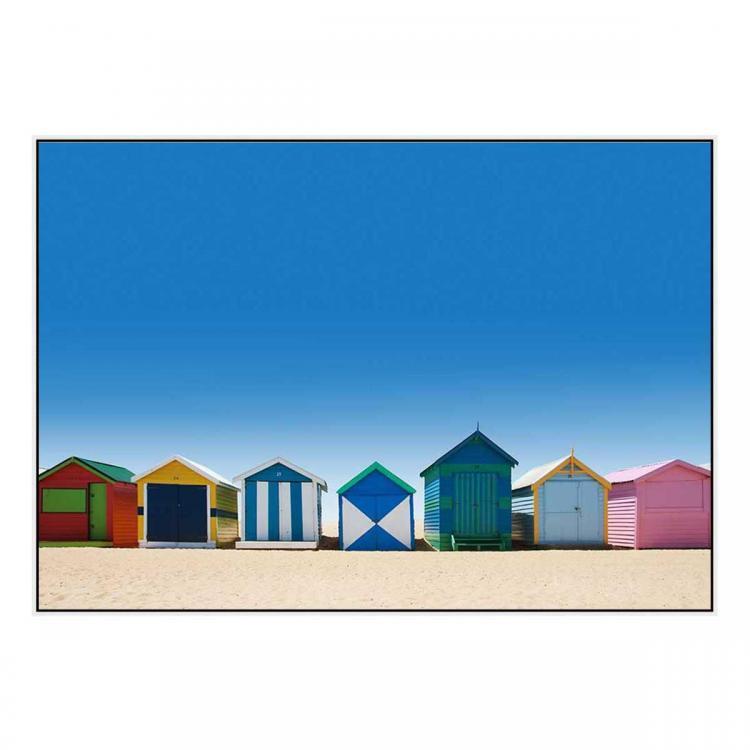 Brighton Boxes - Canvas Print - White Frame - ONE ONLY