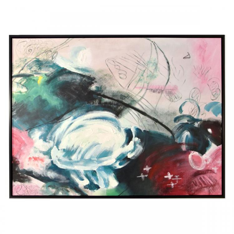 Champs Elysees - Hand Painting - Black Frame - ONE ONLY