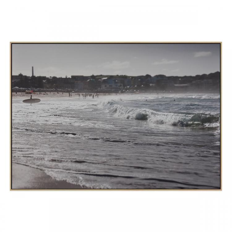 Surfers Paradise - Canvas Print - Natural Frame - ONE ONLY