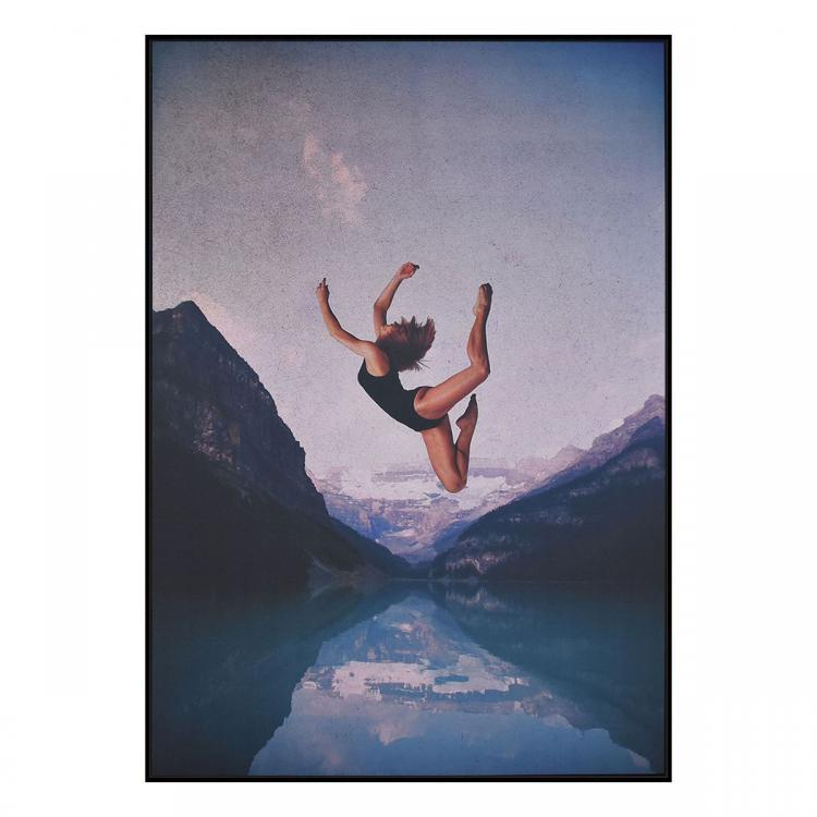 FALLING  - Canvas Print - Black Frame - ONE ONLY