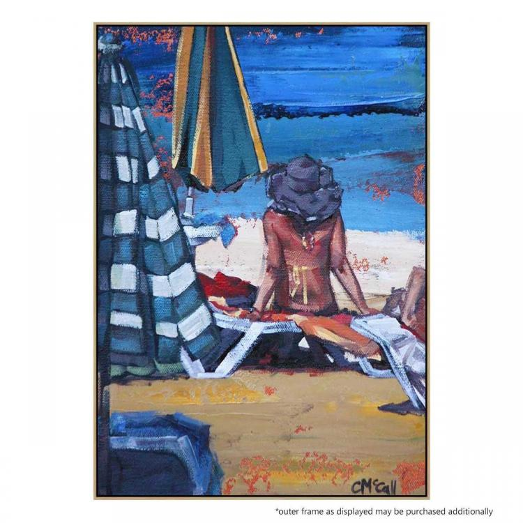 The Sunbather II - Canvas Print - Natural Frame - ONE ONLY