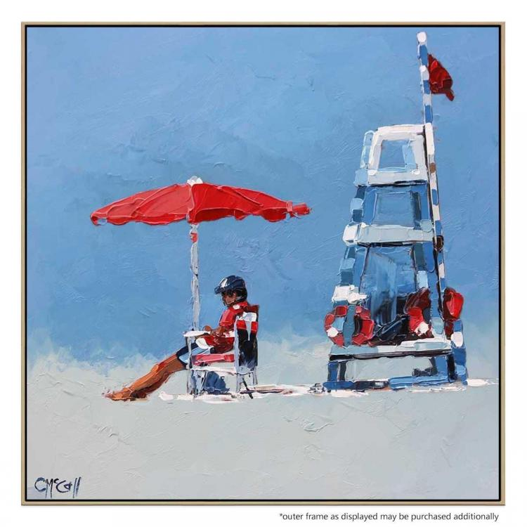 The Lifeguard - Canvas Print - Natural Frame - ONE ONLY